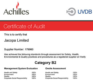 JACOPA SCORES 100% IN ACHILLES AUDIT