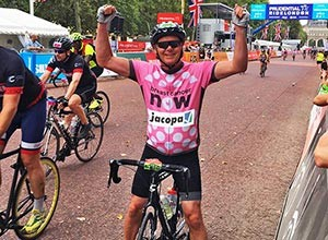 JACOPA'S NIGEL CHAPMAN, COMPLETES RIDE LONDON CYCLE